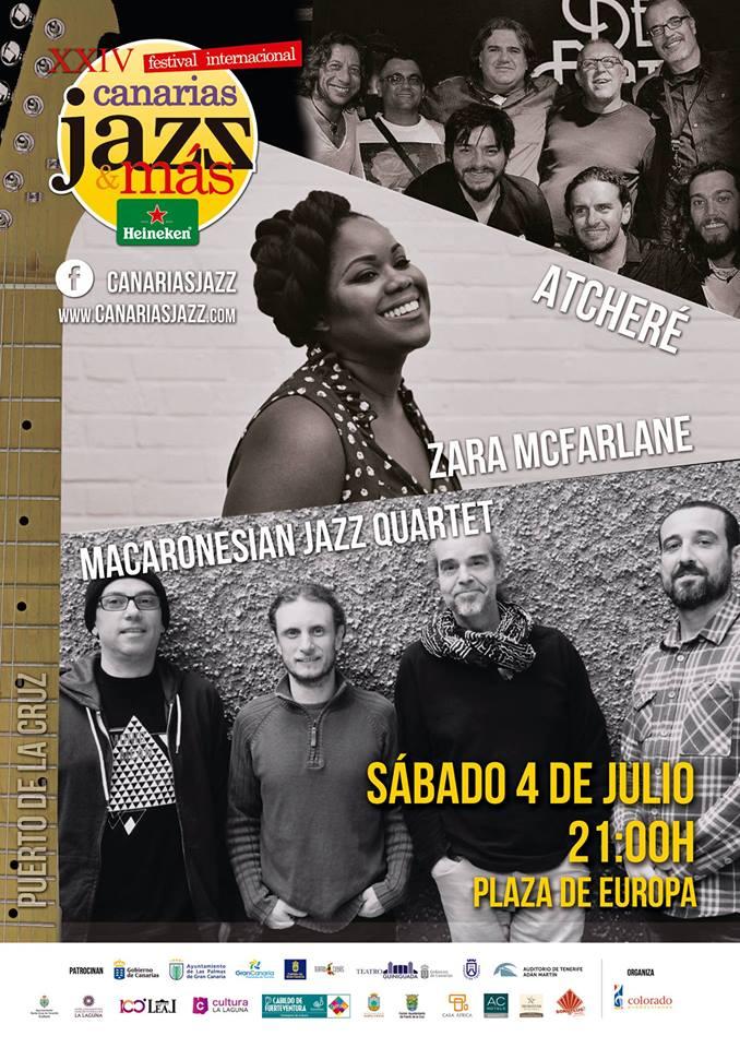Cartel Canarias Jazz&Mas Puerto dela cruz